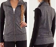 LULULEMON DAILY YOGA PRACTICE JACKET COCO PIQUE Sz 8 Black/gray❤RARE❤