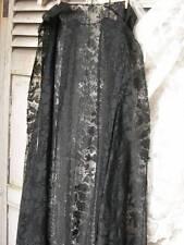 Beautiful antique french circa 1910 noir dentelle sans manches manteau