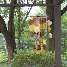 Brown Gold Capiz Chime Sea Shells Wind Chime Gentle Soothing Sound