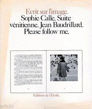 Suite vénitienne - Sophie CALLE - 1983