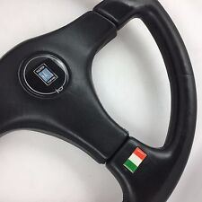 Nardi Gara 365mm black leather car steering wheel. Genuine. Classic Italian.