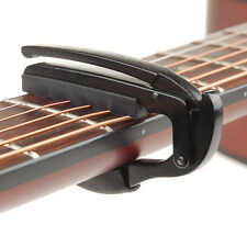 Guitar Quick Change Key Clamp Classic Acoustic Electric Tune Trigger Capo Black
