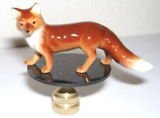Red Fox Lamp Finial, lamp topper, new, porcelain