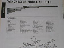 WINCHESTER MODEL 63 RIFLE EXPLODED VIEW