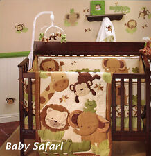 NoJo Little Bedding - Baby Safari  4 Piece Crib Bedding Set W Bumper