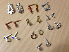 10 Fashionistas My Scene Fashion Fever Barbie Doll Hoop Earring Pair Jewelry Lot