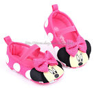 Infant Baby Girl Minnie Mouse Pink Polka Dot Crib Shoes Newborn to 18 Months