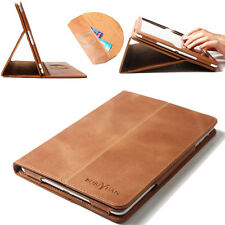 Magnetic Real Genuine Leather Smart Case Cover For Apple iPad mini 1/2/3 Brown