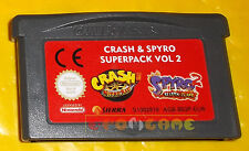 CRASH & SPYRO SUPERPACK VOL 2  Game Boy Advance Gba ○○○○ SOLO CARTUCCIA