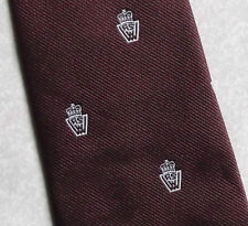 ROYAL CREST VINTAGE CLUB ASSOCIATION TIE BURGUNDY BY CH MUNDAY 1970s 1980s RETRO