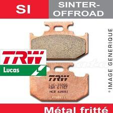 Plaquettes de frein Arrière TRW Lucas MCB 625 SI pour Suzuki TS 200 R 89-
