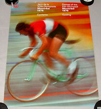 Original Montreal 76 Summer Olympic Official Cycling Poster