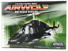 Aoshima Gokin Airwolf 1/48 Diecast Model Limited Mat Black Ver