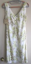 Tommy Bahama Island Inspiration Tropical Floral 100% Silk Dress Size 4 NWT