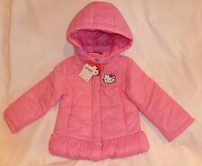 HELLO KITTY GIRLS PINK PUFFER JACKET COAT/HOOD SIZE 4T $97 NEW SALE