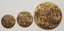 """Lot of 3 CIA ODNI DNI Coins / Medallion 1.5"""" 1.75"""" 3"""" 3D Americana Back 3D Brass"""
