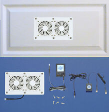 AV Cabinet 12-volt trigger-controlled cooling fans (white model) / Home Theater