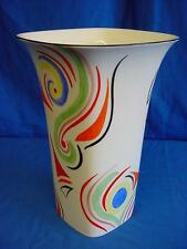EMMA BAILEY ABSTRACT SWIRLS SQUARE VASE - ENGLISH MADE STAFFORDSHIRE BONE CHINA