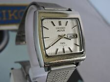 "RARE 1977 VINTAGE SEIKO ACTUS SS ""TV"" 6306-5001 21J AUTOMATIC MENS WATCH JDM"