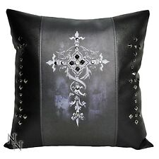 SQUARE LEATHER LOOK CELTIC CROSS  NEMESIS NOW