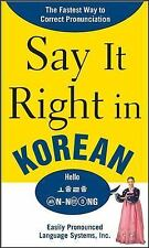 Say It Right in Korean: TheFastest Way to Correct Pronunication, EPLS