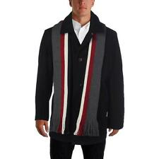 Tommy Hilfiger 4424 Mens Black Wool Jacket Basic Coat Outerwear XL BHFO
