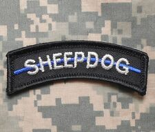 SHEEPDOG POLICE TAB THIN BLUE LINE TACTICAL US MILITARY BADGE SWAT IRON ON PATCH