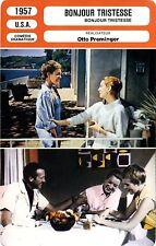 Movie Card. Fiche Cinéma. Bonjour tristesse (USA) 1957 Otto Preminger