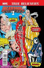 TRUE BELIEVERS DEADPOOL #1 MARVEL COMICS Rob Liefeld, REPRINT NEW MUTANTS #98