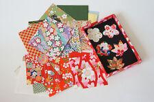 50 Bl. 6×6cm Japanisches Origami aus Büttenpapier und 20 kleine Aufklebern Japan