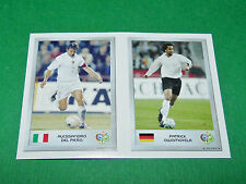 N°79 DEL PIERO 8 OWOMOYELA PANINI FOOTBALL GERMANY 2006 MINI-STICKERS