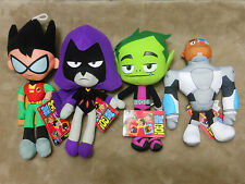 NEW! Teen Titans Go Set of 4 Plush 10 inch Robin Raven Beast Boy Cyborg stuffed