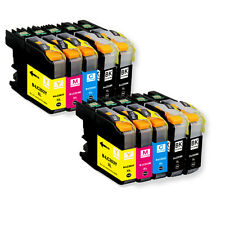 10 PK Ink Cartridge Set w/ chip fits Brother LC203 XL MFC J460DW J480DW J485DW