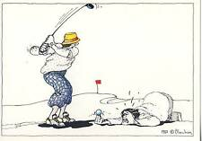 CARTE POSTALE ILLUSTRATEUR / RENE BLACHON 1982 / GOLF