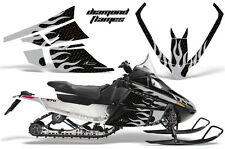 AMR Racing Sled Wrap Arctic Cat F Series Snowmobile Graphic Decal Kit DMNFLAME S