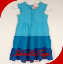 NWT HANNA ANDERSSON LOVE TO TWIRL GIRL DRESS BLUE POOL MULTI 80 10-24 M