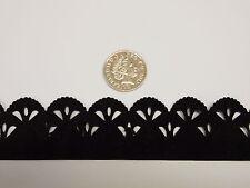 Black mock suede/Velvet trim double sided craft, dressmaking, card scrapbook etc