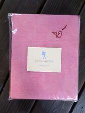POTTERY BARN KIDS red pink chambray cotton sheet set TWIN NIP NEW