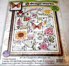 "Design Works Counted Cross Stitch Kit FLORAL ABC 16"" x 20"""