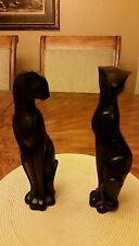 Vintage Solid  (HEAVY) Siamese Cat Statues  12""