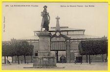 cpa 85 - La ROCHE sur YON (Vendée) STATUE du GÉNÉRAL TRAVOT Les HALLES Marché