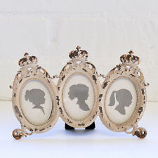 Shabby Cottage Chic French Vintage Style Oval Picture Frames Gold Home Decor