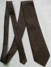 TOOTAL VINTAGE TIE 1970s 1980s RETRO MOD MODERNIST CASUAL BROWN COPPER GOLD