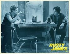 MATT DILLON MICKEY ROURKE RUMBLE FISH F.F. COPPOLA 1983 VINTAGE LOBBY CARD #2