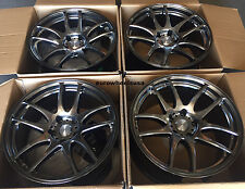 "17"" ESR SR08 Hyperblack Wheels For Honda S2000 CRV 5x114.3 17X8.5 +30 Rims Set"
