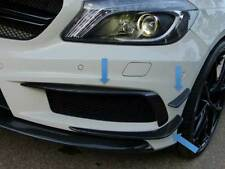 W176 A Class AND A45 AMG Carbon Fibre Fiber Front Bumper Spoiler Flics Canards