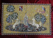 Wandteppich aus Italy Gobelin La dama e unicorno Gusto Arazzo Tapisserie GELB