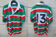 VINTAGE Maillot rugby COLMAR porté n°13 HALBRO match worn shirt années 80 40 in