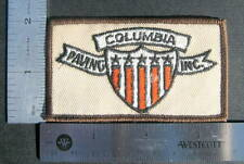 "COLUMBIA PAVING EMBROIDERED SEW ON ONLY PATCH ASPHALT COMPANY 3 1/2"" x 2"""