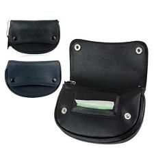 Real Leather Rolling Pipe Cigarette Tobacco Pouch Case Holder W/Rubber Lining
